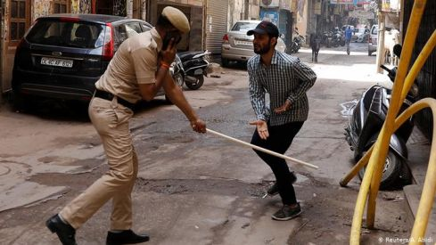 police beating image