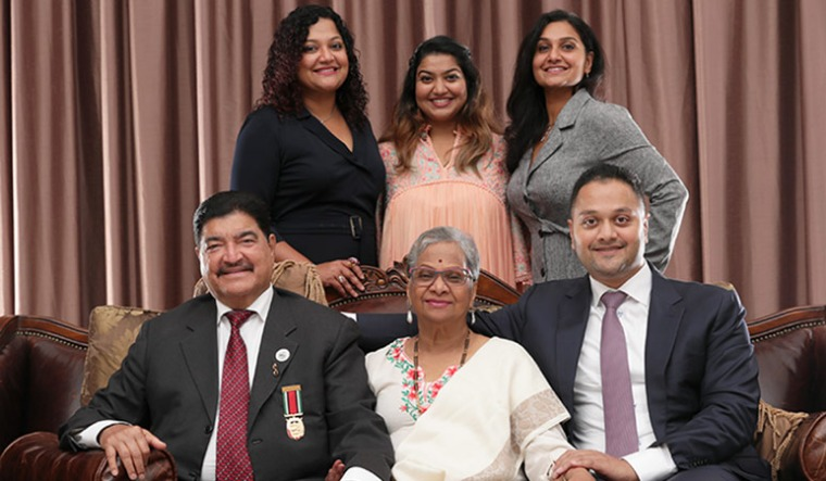 B. R. Shetty with family